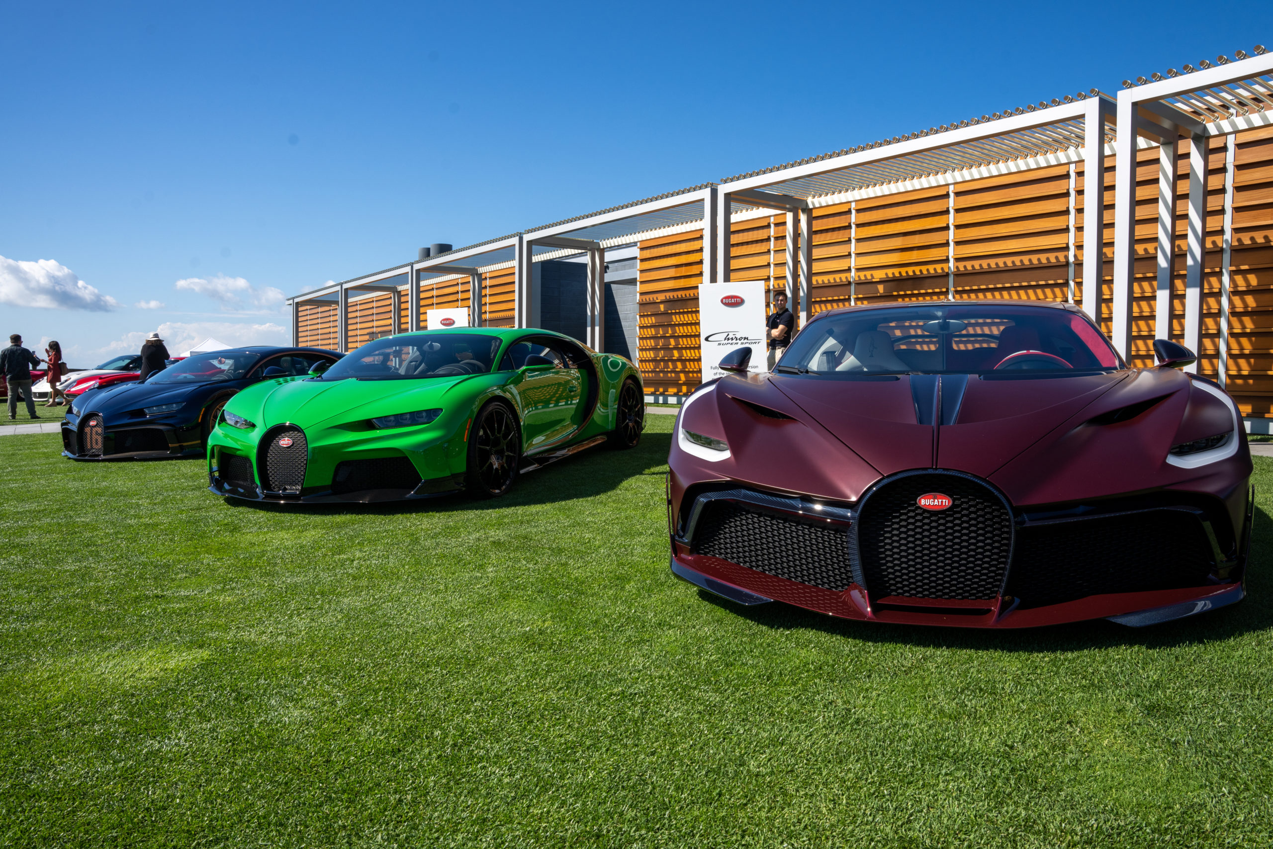 There were several Bugatti's on display on Saturday, three of which were at the entrance to The Bridge.  RON ESPOSITO
