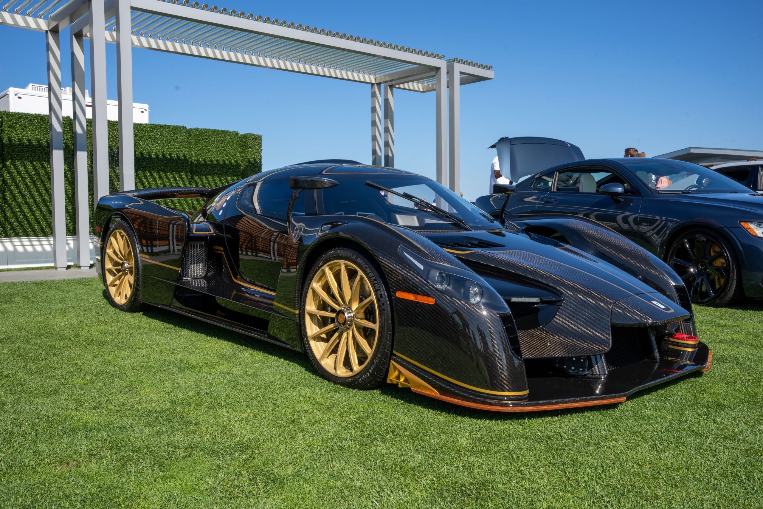 A Glickenhaus 003 SCG supercar, one of the many exotic cars to greet guests at The Bridge this past Saturday.