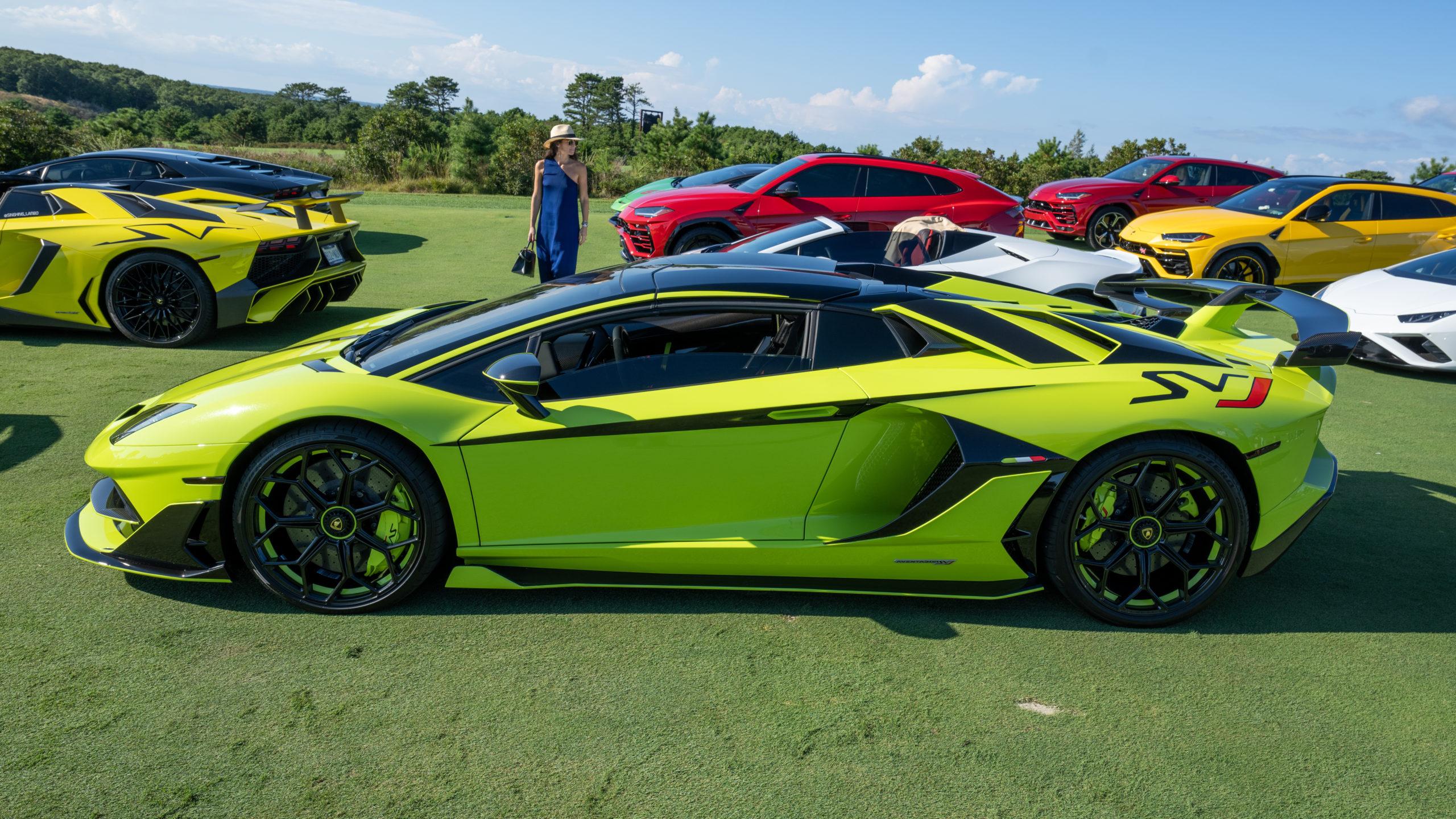 A Lamborghini Aventador SVJ.