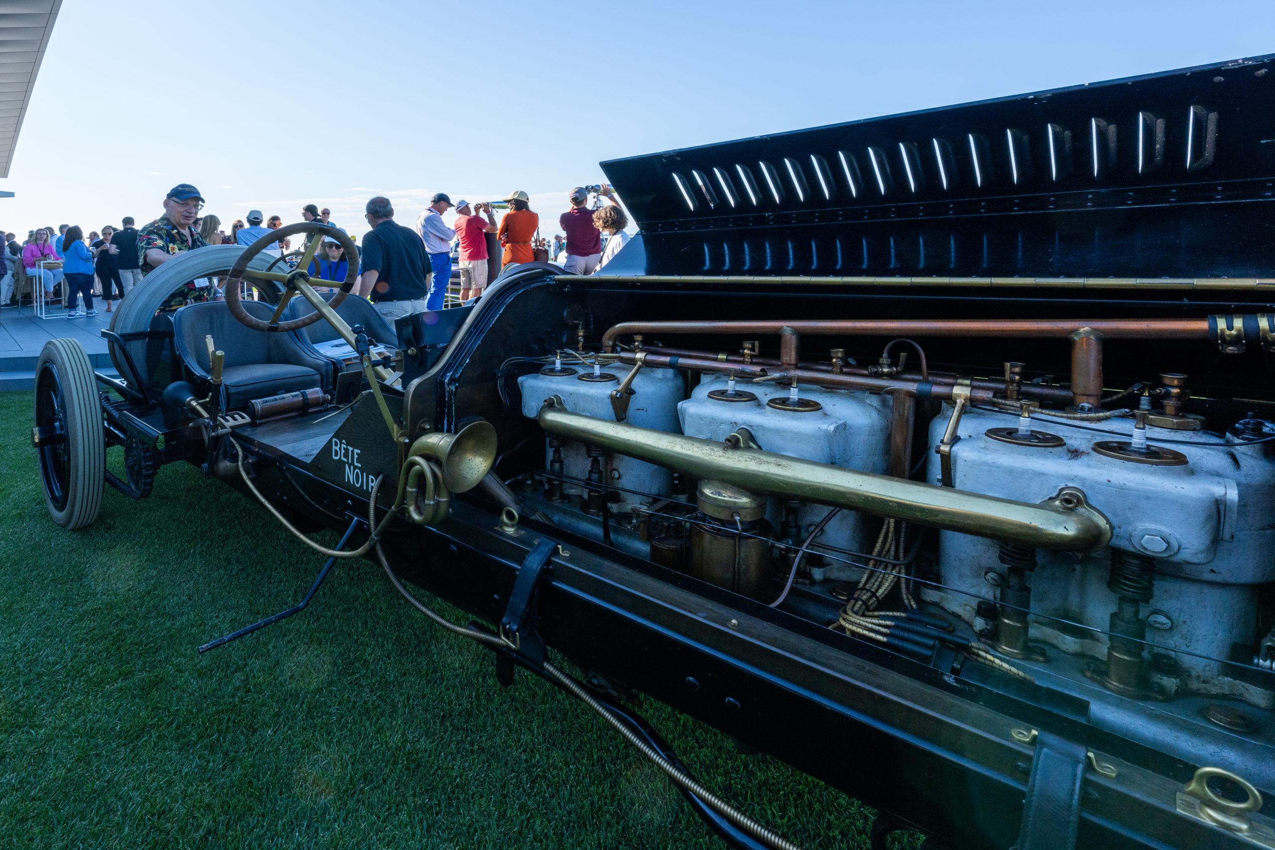 A vintage Indianapolis 500 car.