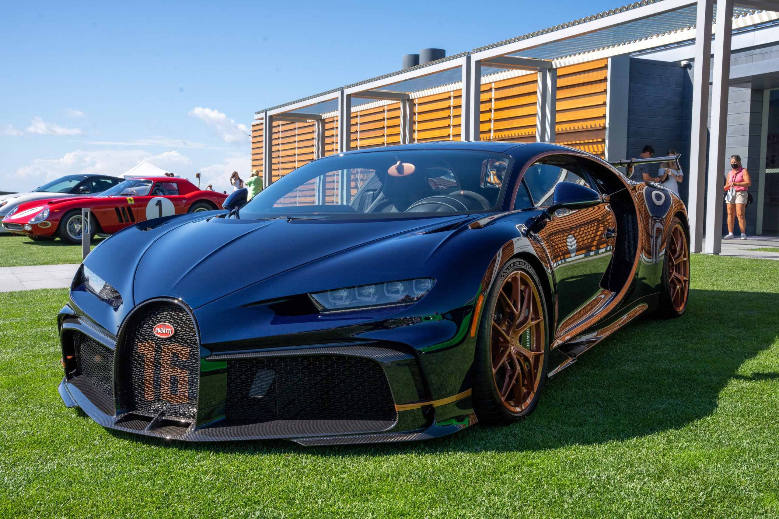 There were several Bugatti's on display on Saturday, three of which were at the entrance to The Bridge.