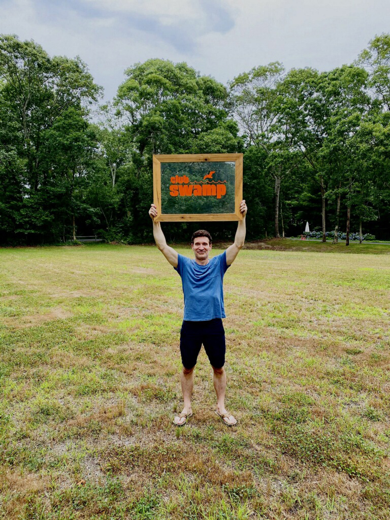 Hamptons Pride President Tom House at Wainscott Green, the old stomping grounds of The Swamp.