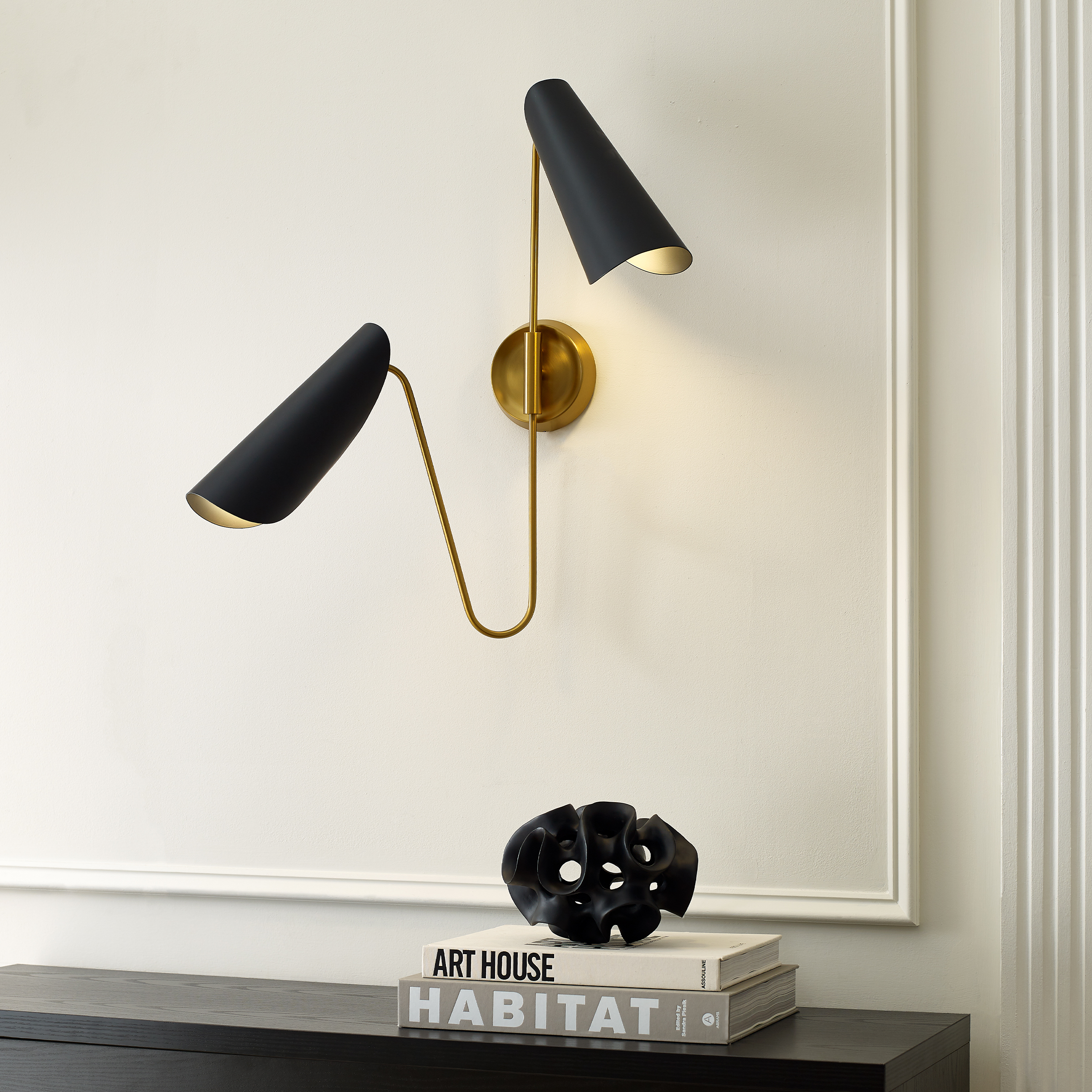 The Tresa sconce, part of the AERIN by Generation Lighting Collection.