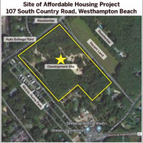 The layout of the proposed affordable housing development.