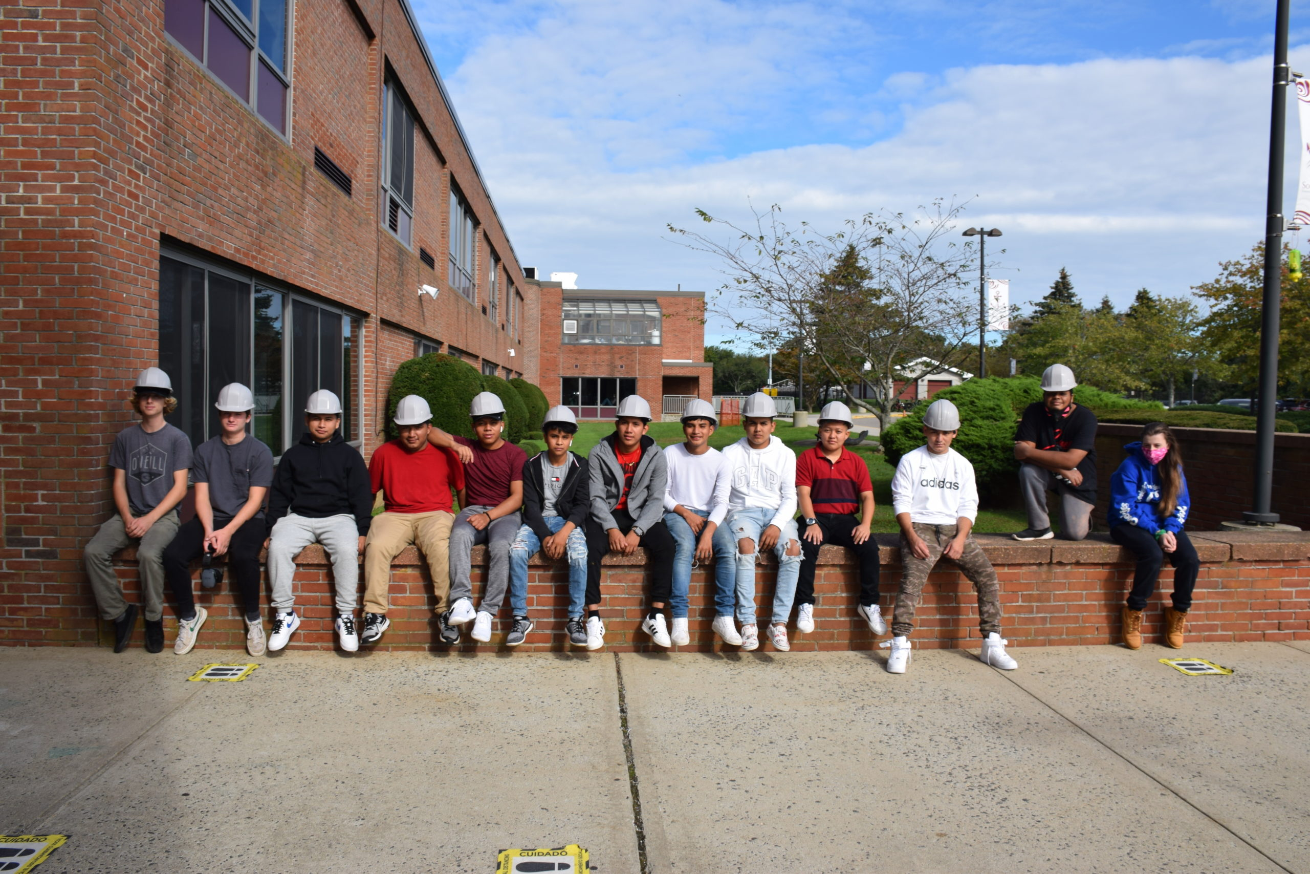 Thirteen Southampton High School students enrolled in Eastern Suffolk BOCES' carpentry program earned scholarship funds from the Southampton Business Alliance.