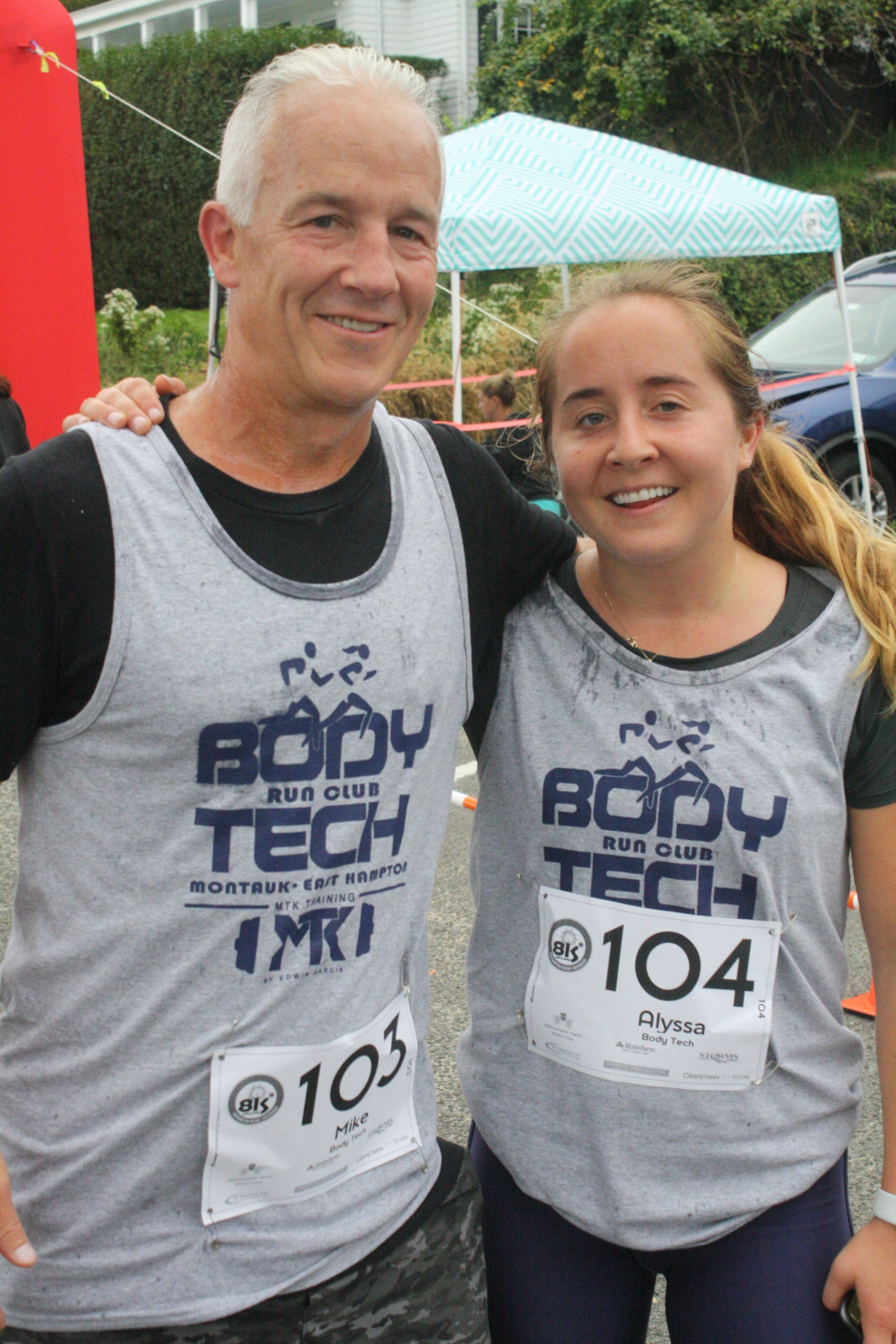 Mike Bahel and his daughter, Alyssa Bahel, who was the top female finisher in the race.