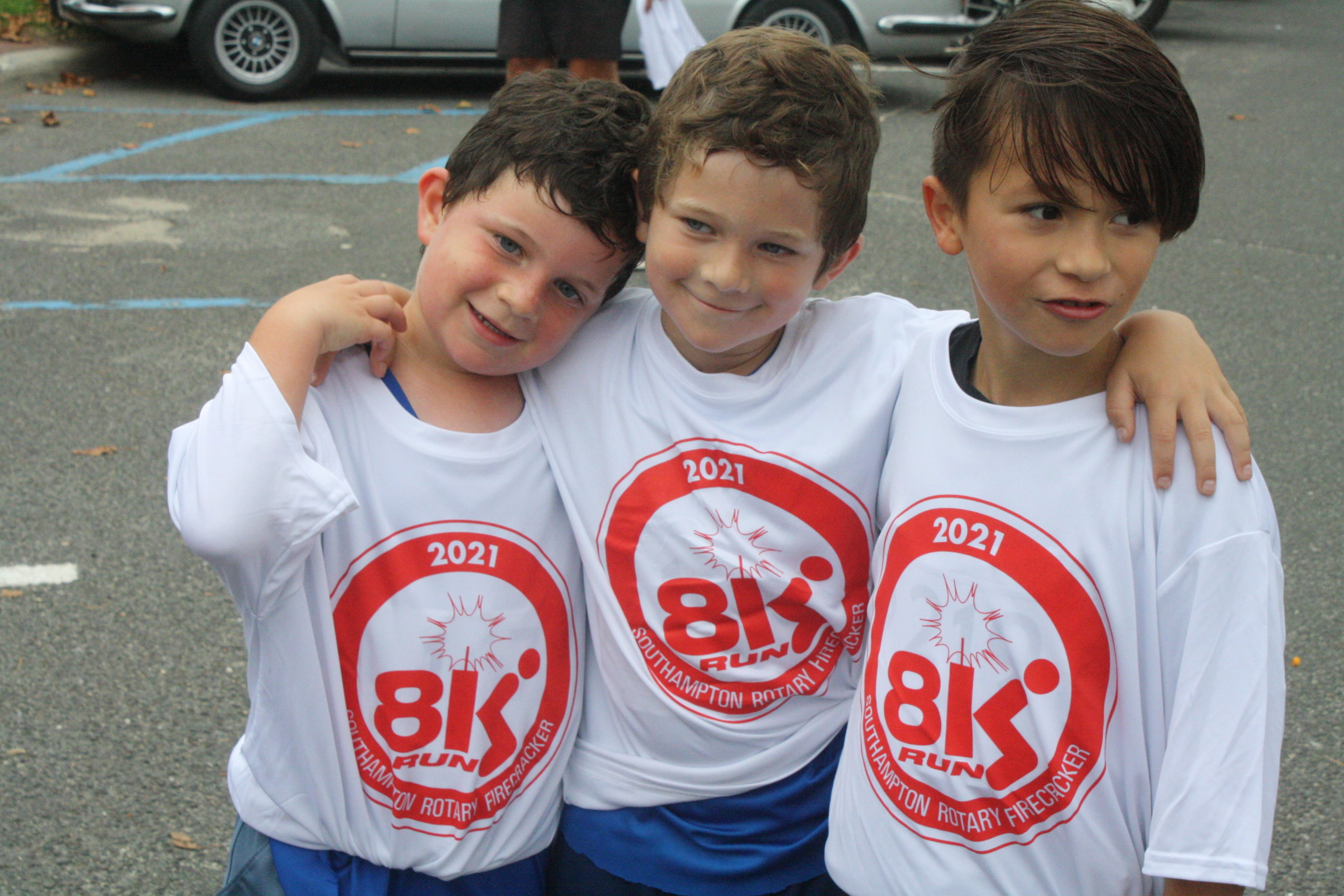 Southampton Elementary School students, from left, Jack Brody, Robinson Brody, and Oliver Valezi.