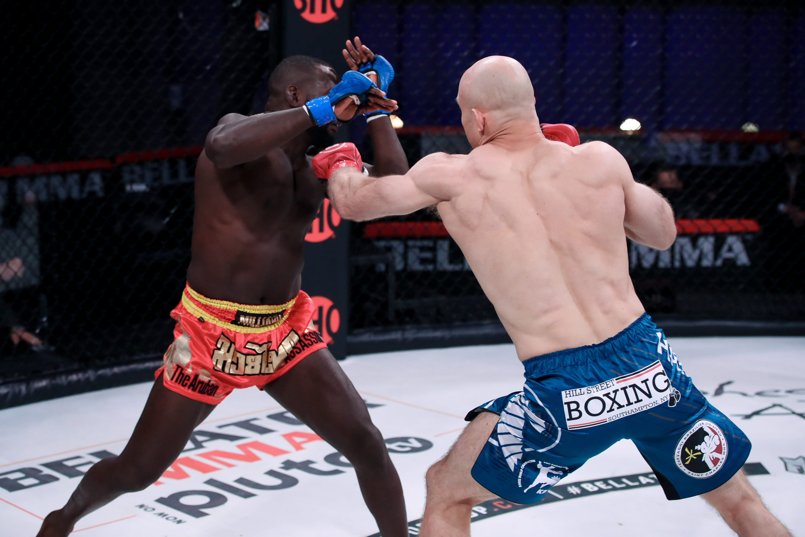 Julius Anglickas gets his armed raised in his most recently victory this past April over Gregory Millard at Bellator 257.