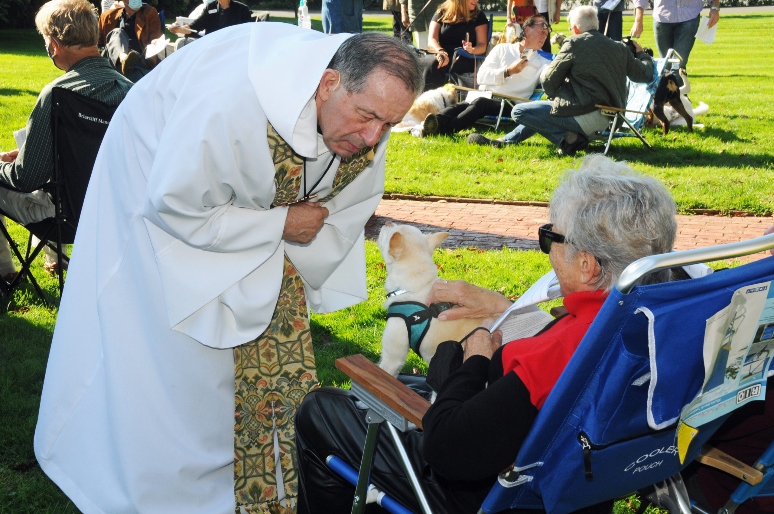 Pet owners are blessed every day by having the company of their beloved companions. On Sunday it was their turn to be blessed, as St. Luke's Episcopal Church in East Hampton held the annual