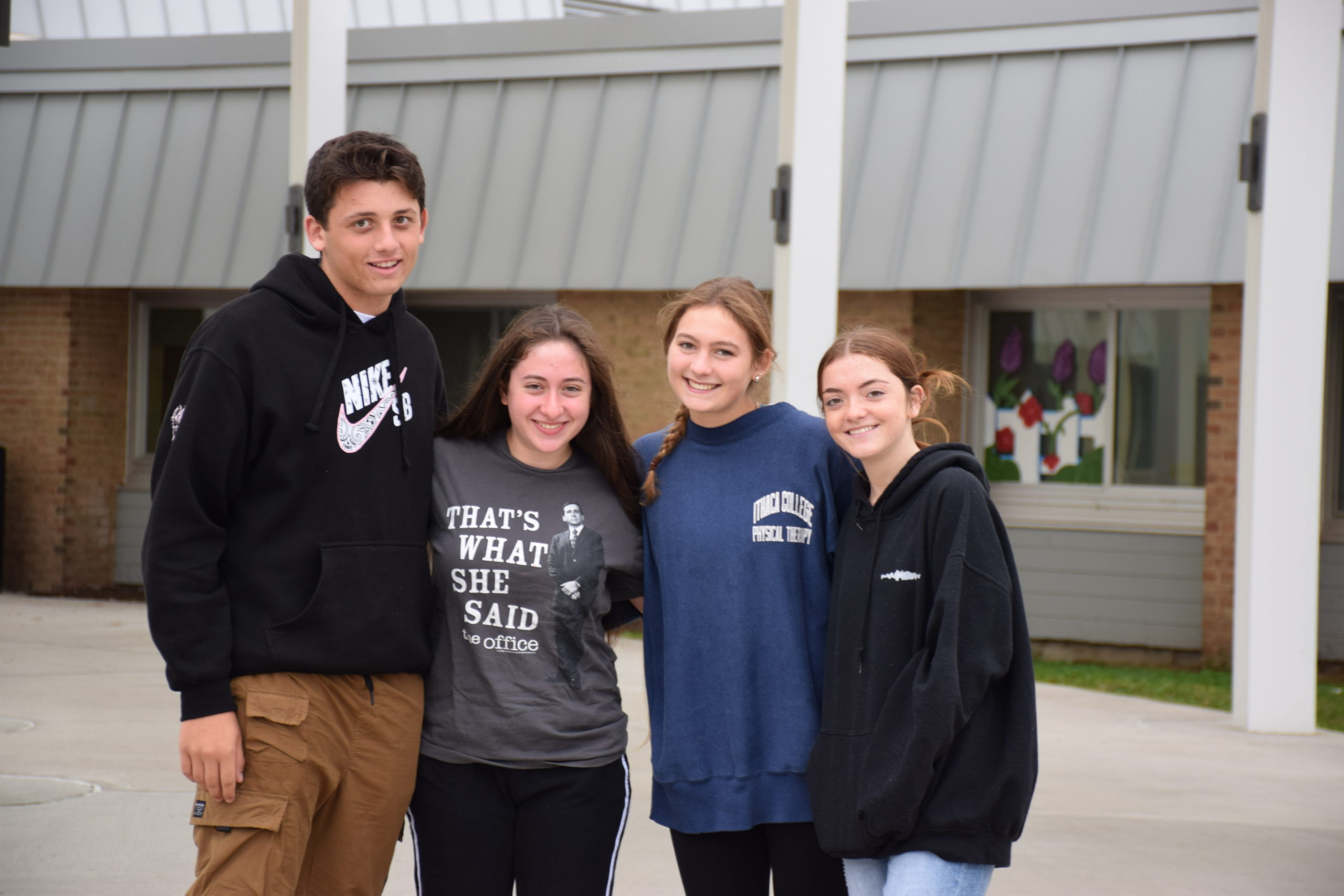 Five Hampton Bays High School seniors are the first to earn AP Capstone Diplomas. Not pictured: Stephen Sutton.