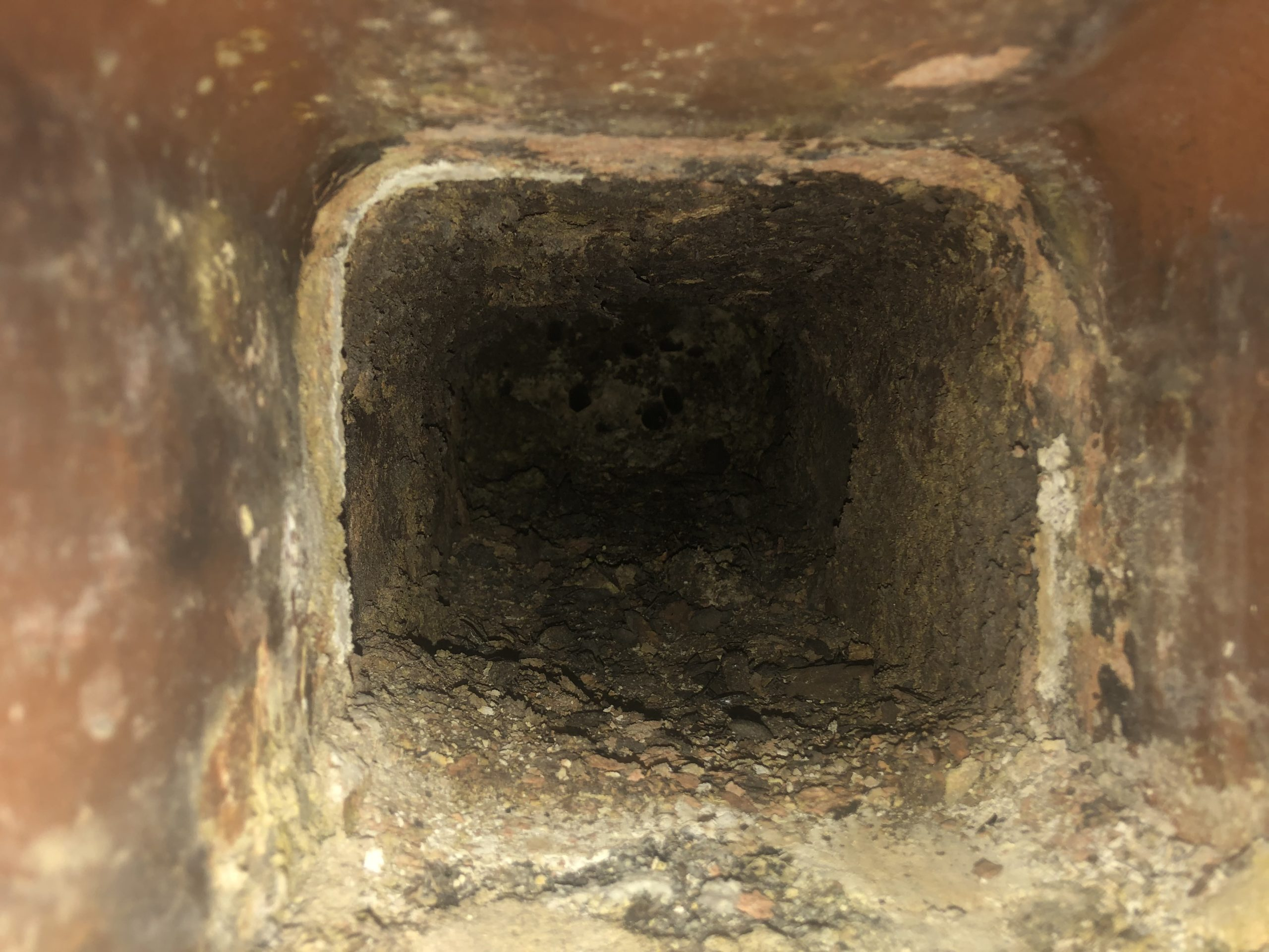 Creosote build-up in chimneys can lead to fires, which is why it's important to have chimney swept once a year.