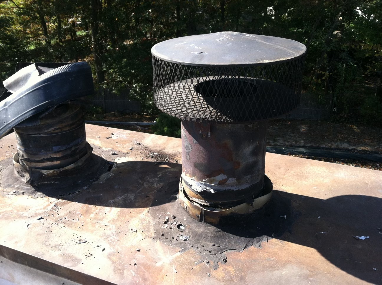 Chimney caps are important for keeping out animals, debris, and water.