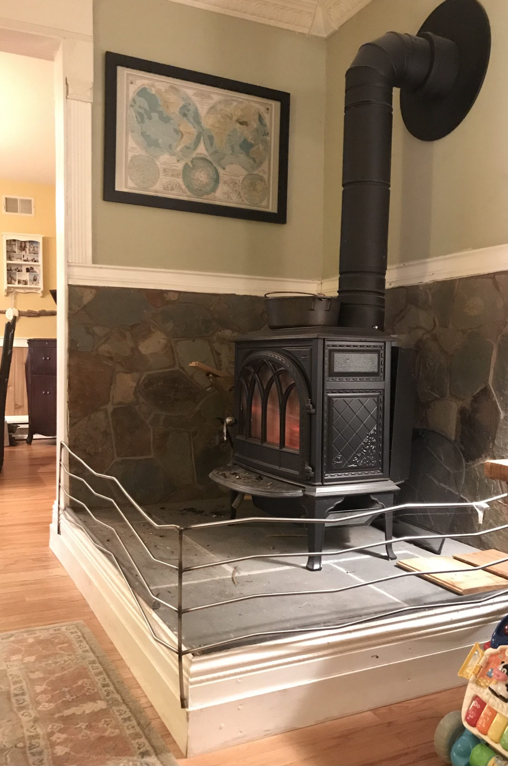 Wood stoves sometimes require glass cleaning as well, and it's important not to burn pine wood.