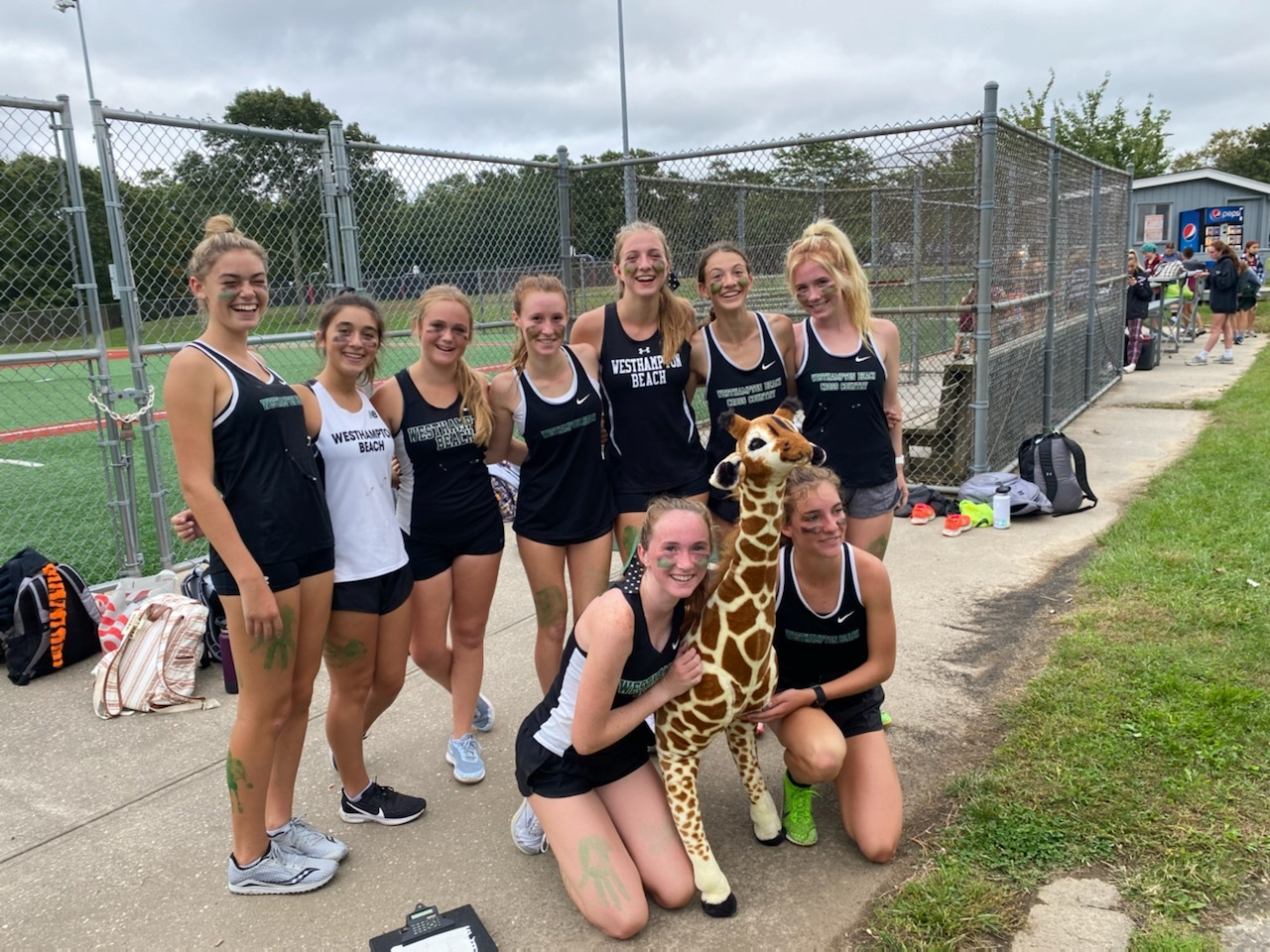 The Westhampton Beach girls cross country team secured the league title last week.