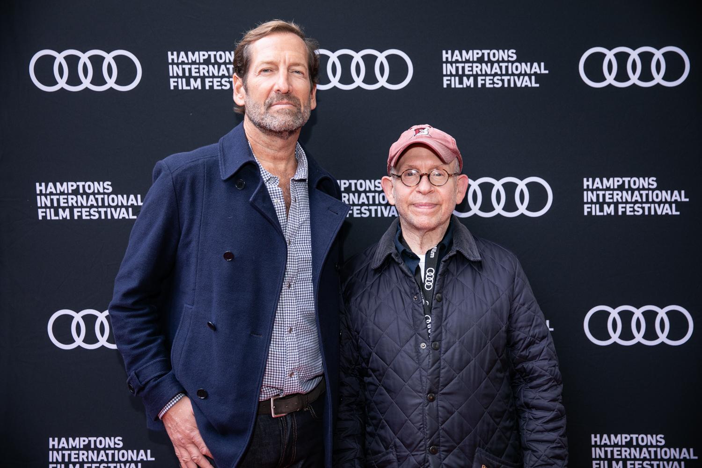 Kevin Ulrich and Bob Balaban at the 29th annual Hamptons International Film Festival.