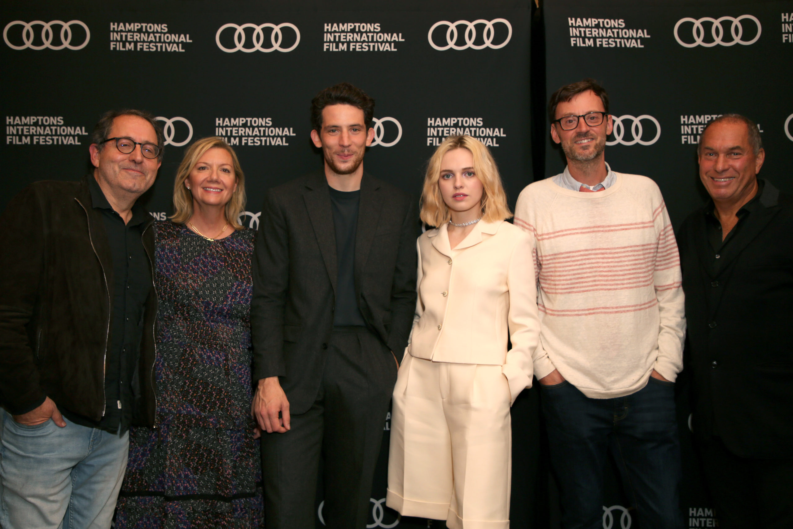 From left, Michael Barker, Anne Chaisson, Josh O'Connor, Odessa Young, David Nugent and Stuart Match Suna at the 29th annual Hamptons International Film Festival.