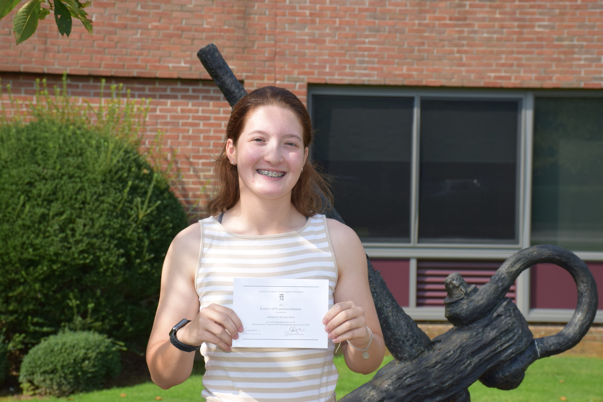 Southampton High School senior Sarah Spanburg has been named a National Merit Commended Student.
