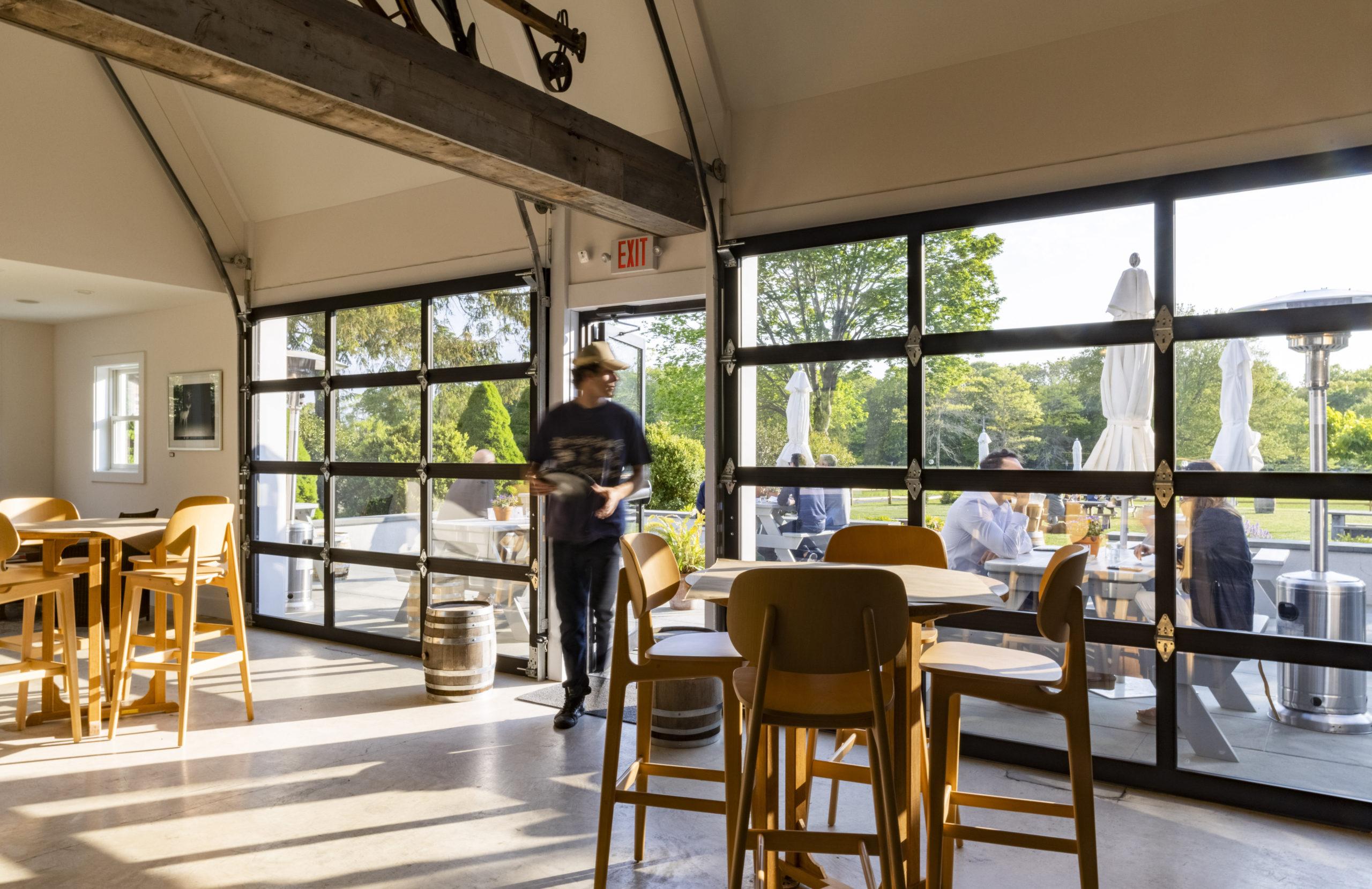 Tasting room at Sagaponack Farm Distillery.