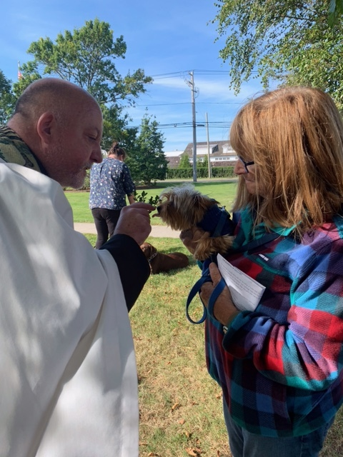St. Mark's Episcopal Church in Westhampton held a Blessing of the Animals event, during which Father Chris Jublinski blessed the pets of about 40 members of the community.