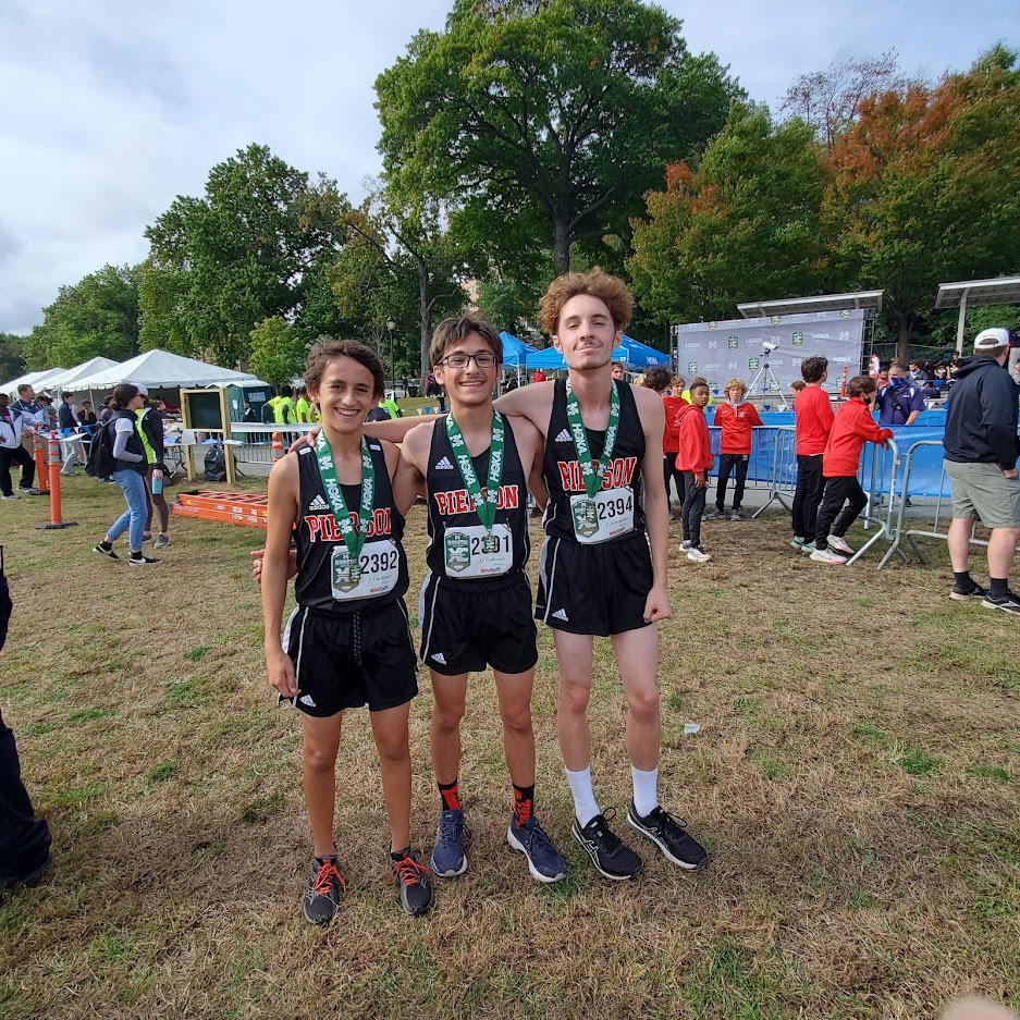Sophomore medal winners, from left, Justin Gardiner, Chad Federico and Lance Schroeder.